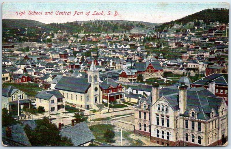 Lead, South Dakota Black Hills Postcard