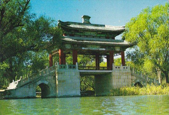China Peking Mirror Bridge In The Summer Palace