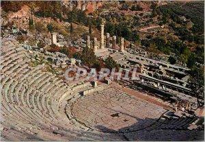 Postcard Modern Delphi The Theater and the Temple of Apollo
