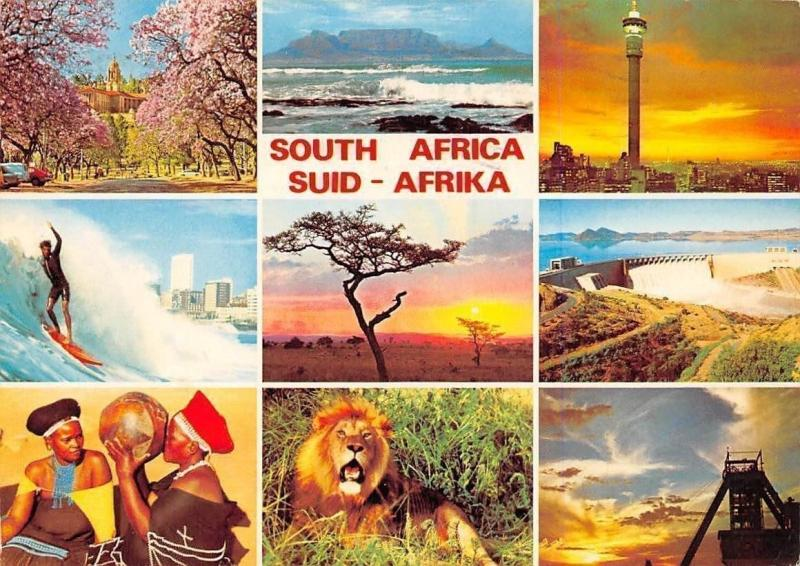 South Africa, Suid Afrika Land of Contrast, Pretoria, Cape Town, Durban, Lion