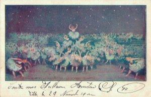 Art Deco Music Opera Le Scarpette Vintage Postcard 06.32
