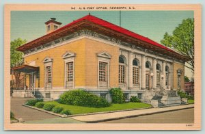 Newberry South Carolina~US Post Office~Corner View~Houses in Distance~1940s
