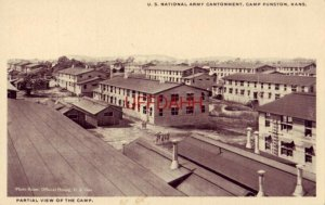U.S. NATIONAL ARMY CANTONMENT, CAMP FUNSTON, KS partial view of camp Photo Hesse