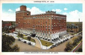 Coronado Hotel, St. Louis, Lindell Boulevard Spring Ave., St. Louis cars 1928