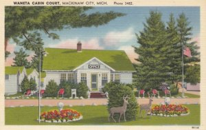 MACKINAW CITY, Michigan, 1930-40s; Waneta Cabin Court