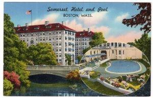 Boston, Mass, Somerset Hotel and Pool