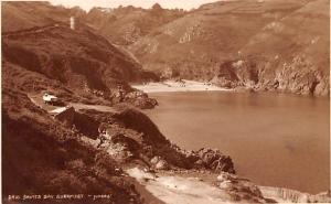 Scotland, UK Old Vintage Antique Post Card Saints Bay Guermsey 1936