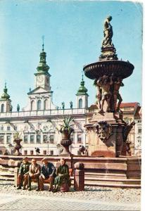 Czech Republic, Ceske Budejovice, Zizka Square, used Postcard