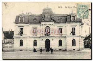 Old Postcard Bank Caisse d & # 39Epargne Sens