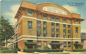 SC, Greenville, South Carolina, Textile Hall, Curteich 4B-H194