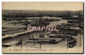 Postcard Old Marseille Basin and the Joliette Docks