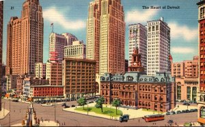 Michigan Detroit The Heart Of The City 1951