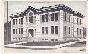 CLAYSVILLE, Pennsylvania, 1900-1910's; Claysville High School