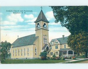 Linen CHURCH SCENE Hillsborough Hillsboro - Near Concord New Hampshire NH A9433
