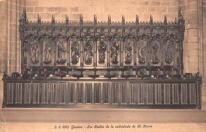 Switzerland Old Vintage Antique Post Card Geneve, Les Stalels de la cathedral...