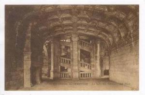 La Salle des Gardes, Chateau, Spiral Staircase, Chambord, France, 00-10s