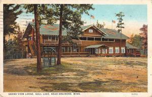Brainerd Minnesota Gull Lake Grand View Lodge Vintage Postcard JD933443
