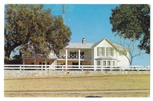 TX Stonewall Texas LBJ Ranch Summer Whitehouse 1964 Postcard