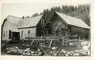RPPC of Dr. Sanders House in Cornucopia Ghost Town Oregon OR 1915