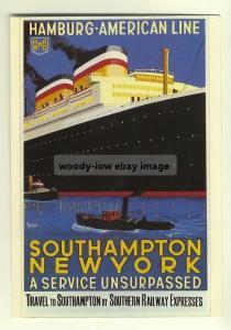 ad2111 - Hamburg Amerika Line - modern poster advert postcard