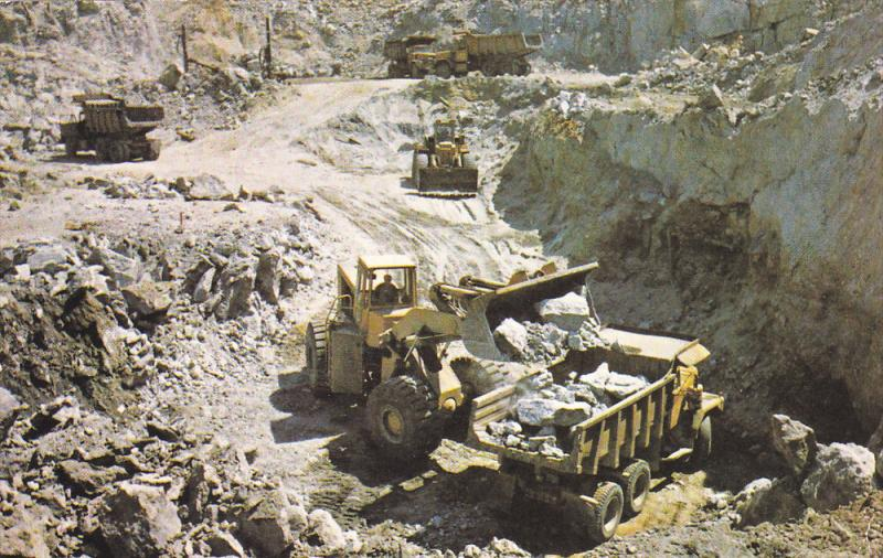 Open-Pit Mining Operations, Cambell Chibougamau Mines Ltd. , Quebec , Canada ...