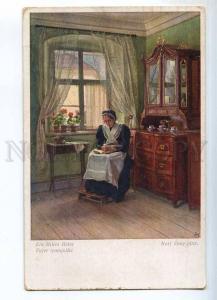 240647 Granny reading Book by Karl ZEWY Vintage B.K.W.I. PC