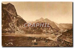 Old Postcard All France Superbagneres Luchon and Area H Garonne Lake Espingo