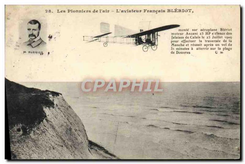 Old Postcard Jet Aviation L & # 39aviateur french Bleriot