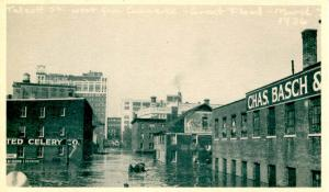 CT - Hartford. March, 1936. Great Flood. Talcott Street west from Commerce St.