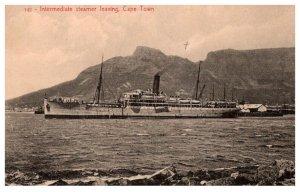 Intermediate Steamer leaving Cape Town