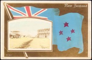 new zealand, TARANAKI, Patea River, Flag (1920s) RPPC