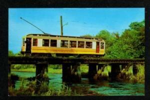 CT East Haven Short Beach Trolley Car Rail Railroad Train CONNECTICUT