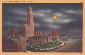 Ohio Columbus Civic Center At Night