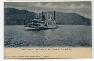 Steamer Mary Powell Cornwall Bay Hudson River New York 1907c postcard