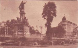 Mexico Mexico City Statue To Colon & The Imperial Hotel 1926