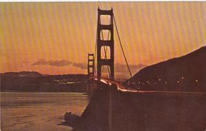 California San Francisco Golden Gate Bridge At Sundown