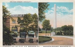Schneider's Cafe, Washington Monument, Washington, D.C., 1910-1920s