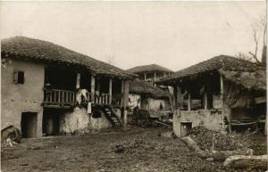 CPA AK carte photo village MACEDONIA SERBIA (709046)