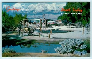 DEATH VALLEY NATIONAL MONUMENT, CA~ Scene at FURNACE CREEK RANCH c1940s Postcard