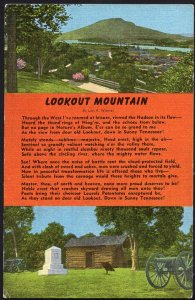Tennesse Description A View of Lookout Mountain Log Cabin by Lon A. Warner LINEN