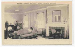 Lounge , Methodist Home , CHELSEA, Michigan, 20-40s