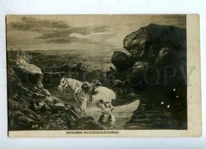 185924 RUSSIA BERRES Dead rider DEATH vintage postcard