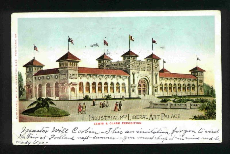 Postcard - Lewis & Clark Exposition, Industrial Palace