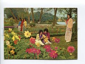 271691 VIETNAM HANOI Youth Road girls old photo postcard
