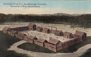 Kentucky Boonsborough Kentucky's First Fort Erected By Daniel Boone In 1775