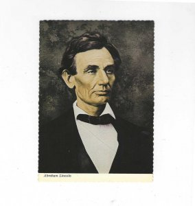 Vtg 1970's Abraham Lincoln Portrait Continental Postcard