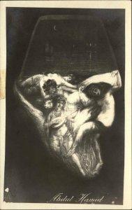 Metamorphic Art Ottoman Empire Abdul Hamid Nude Women Face Fantasy RPPC