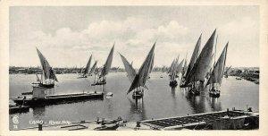 Vintage Egypt Postcard, Cairo River Nile, Panoramic Bookmark Style BD0