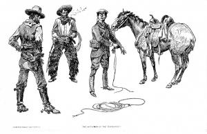 Charlie Russell, Initiation of the Tenderfoot divided back, c. 1915