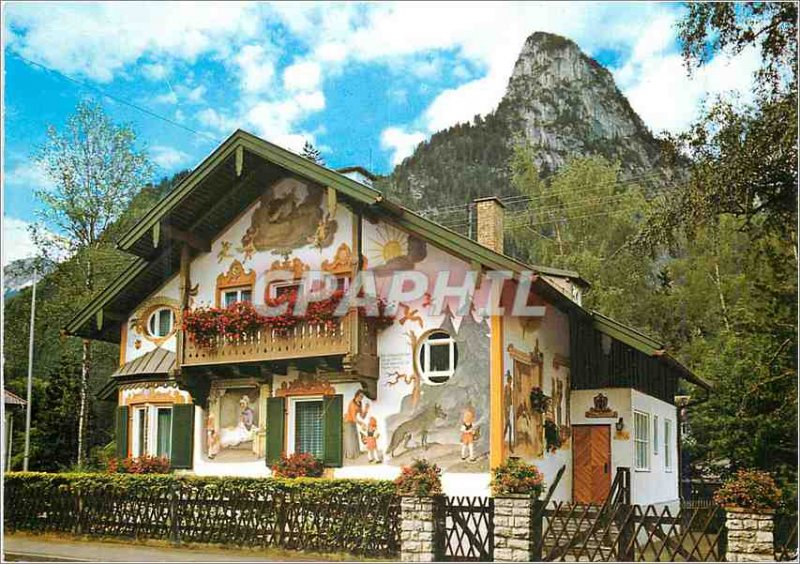 Modern Postcard Oberammergau Mysterious Village Little Red Passion
